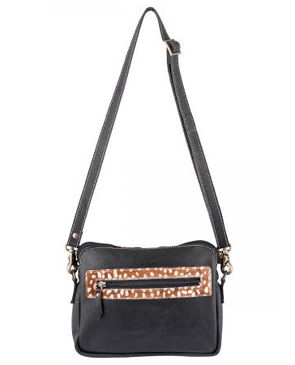 Sixtease 2512 Deer Leather Hairon Crossbody