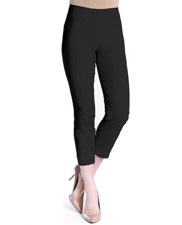 Slim-Sation M29707PM Pull On Skinny Crop Pants black