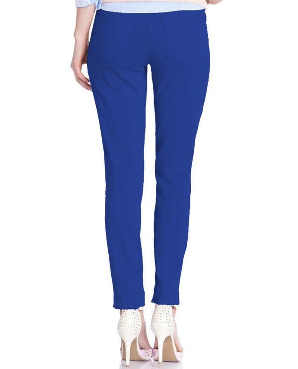 SlimSation M2623 Ankle Pants Blueberry Back View