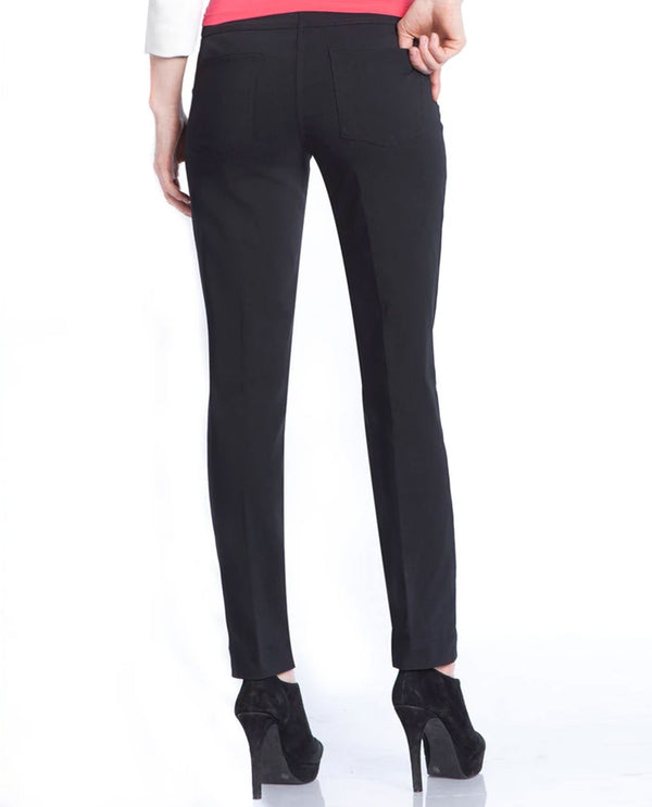 Slim Sation M2623CL Wide Band Pull On Pants Black
