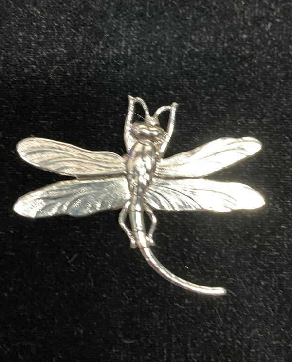 Silver Small Dragonfly Brooch