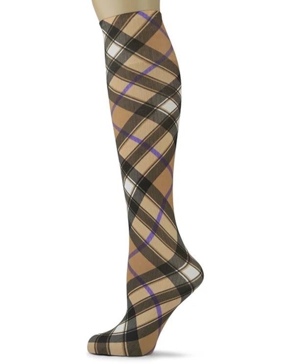 Sox Trot 6BIPWHT Bias Plaid Knee High