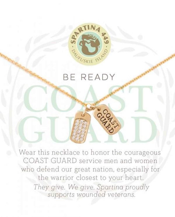Spartina 502139 Coast Guard Necklace in gift box to honor our service men and women