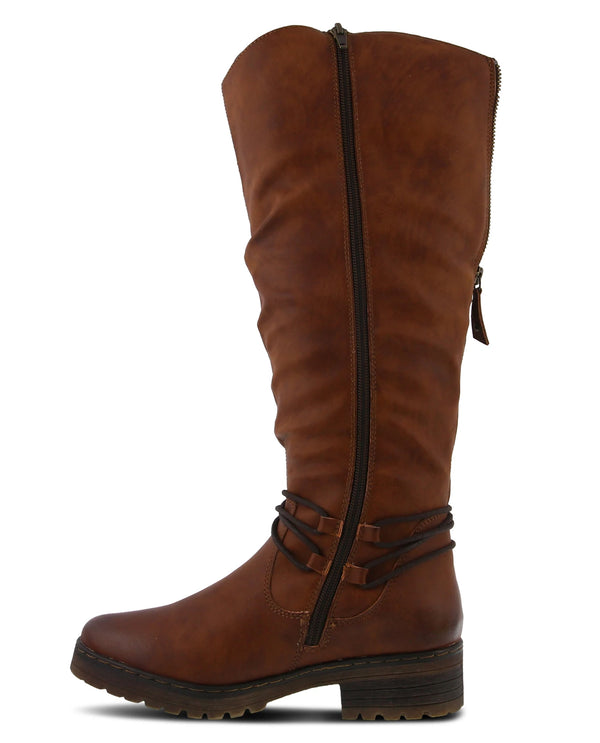 Spring Step Back Zip Tall Boot Camel
