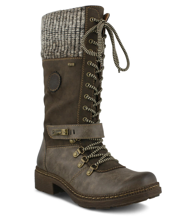 Spring Step Knit Cuff Boot Brown
