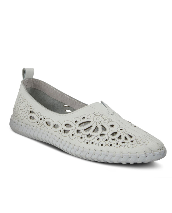 Spring Step MIRTHA Slip On Laser Cut White