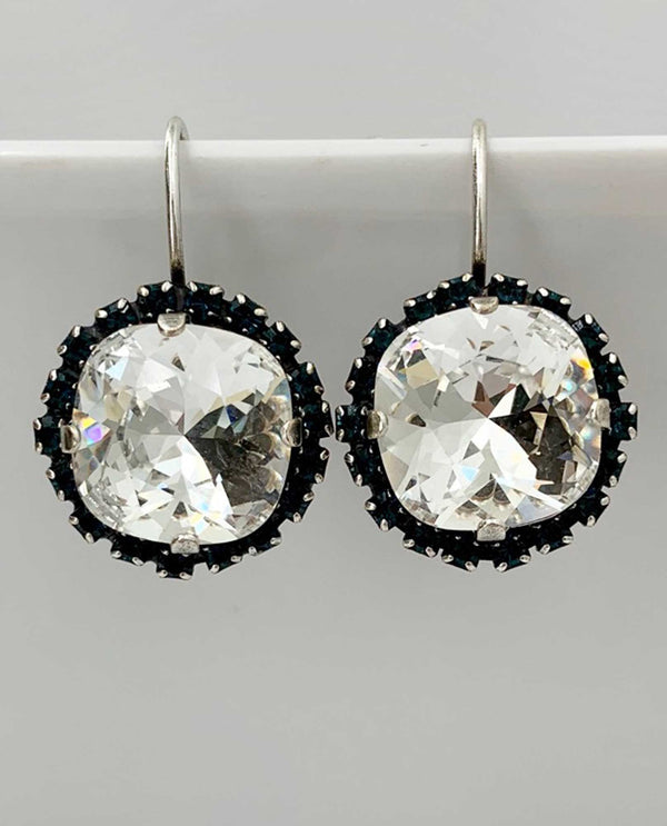 Squarlis Earring Montana Halo BY RACHEL MARIE DESIGNS Clear