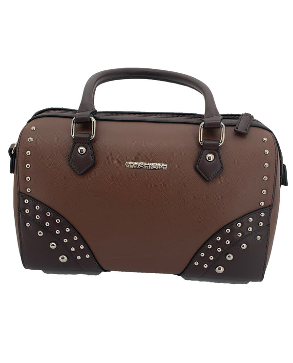 Brown Studded Bag