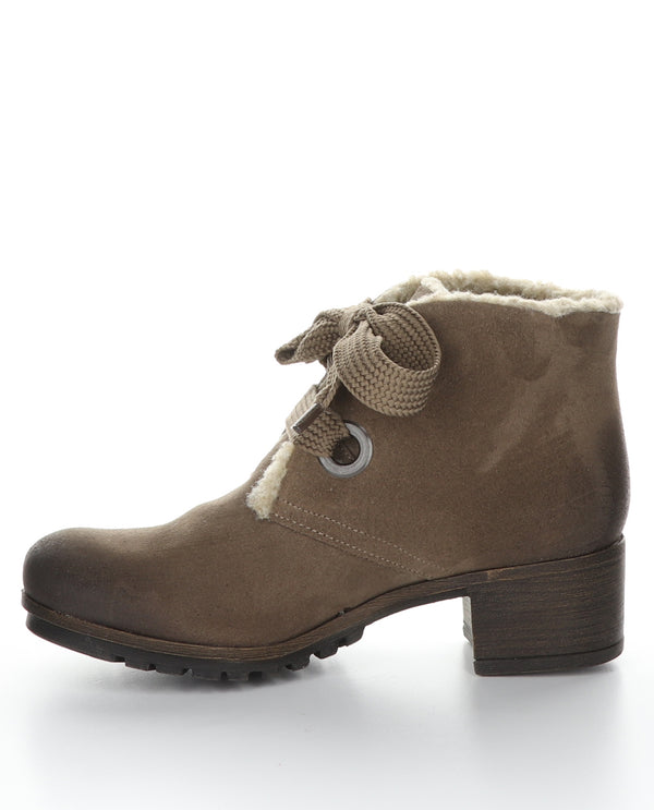 Suede Short Boot Taupe
