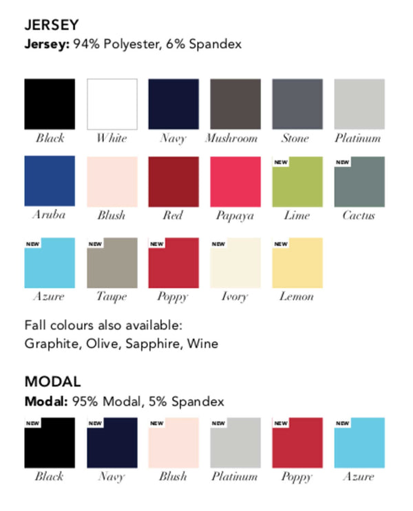 Black Sympli Spring 2019 Color Chart