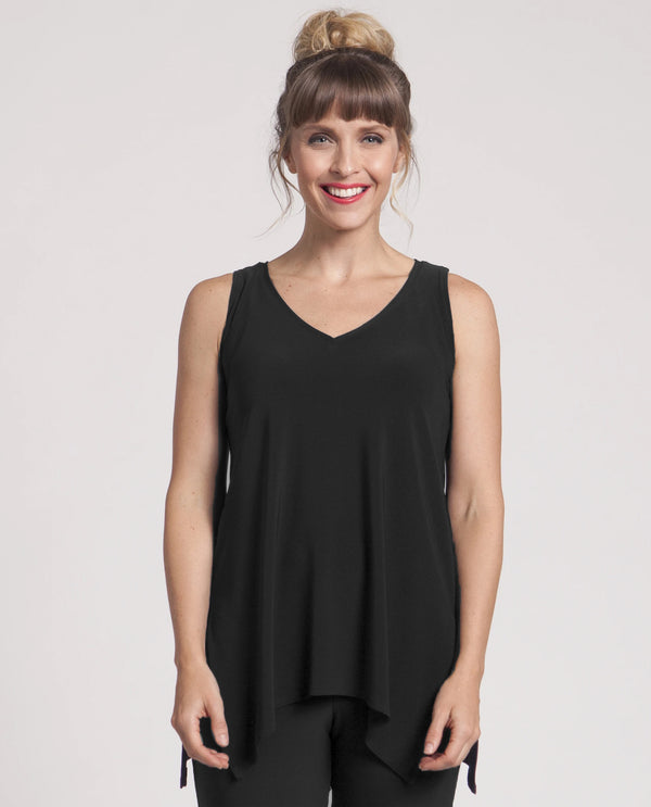 Sympli 21112R Go To Wide V Neck Black