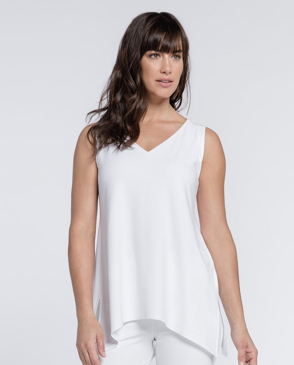 Sympli 21112R Go To Wide V Neck White