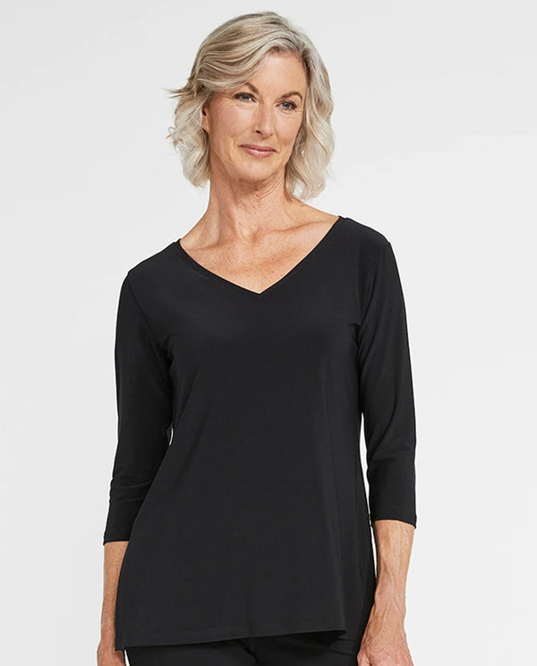 Sympli 22170-2 Go To V-Neck T Relax black