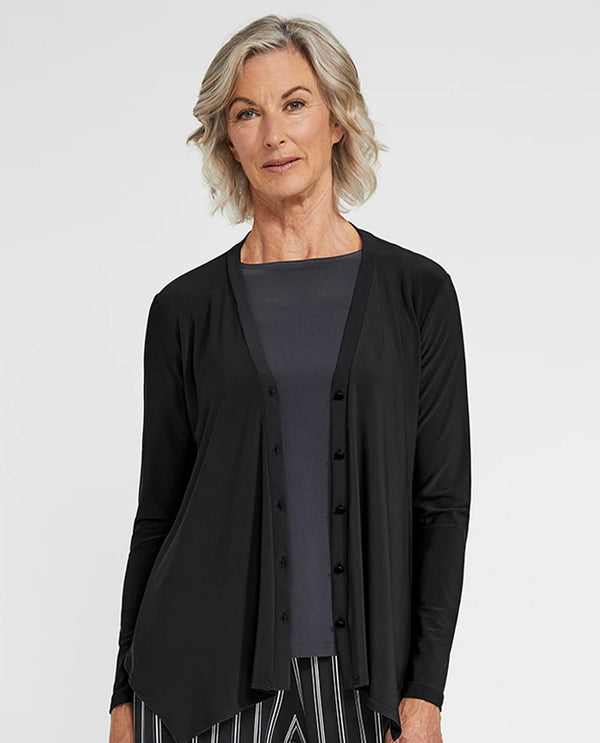 Sympli 25118 Icon Cardigan Black