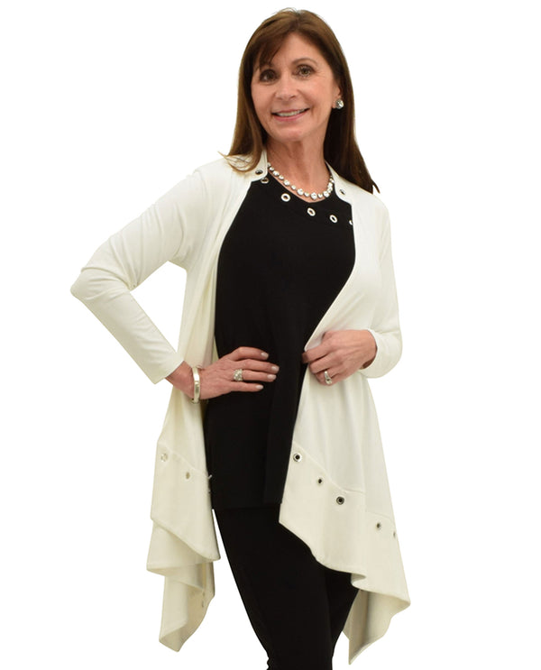 Sympli 25123 Halo Cardigan White