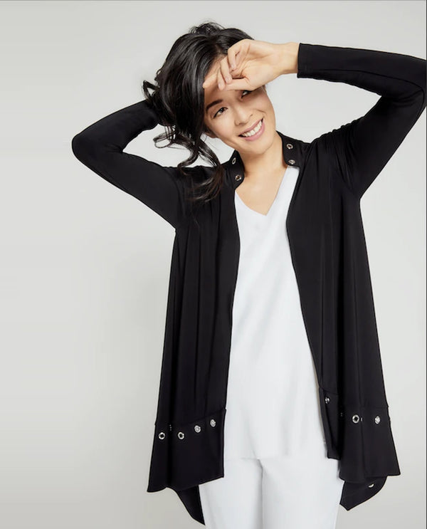 Sympli 25123 Halo Cardigan Black