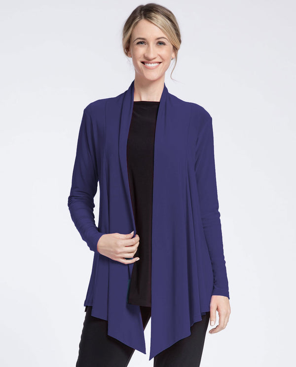 Sympli 2599 Nu Urban Cardigan Blackberry