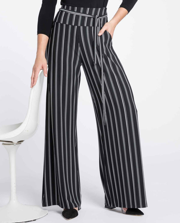 Sympli 27195CB Varied Stripe Wide Leg Trouser