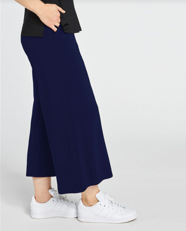 Sympli 27204 Cropped Wide Leg Trouser navy