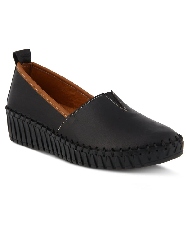 Spring Step Slip On Shoe Black