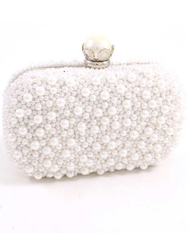 White Pearl Evening Bag