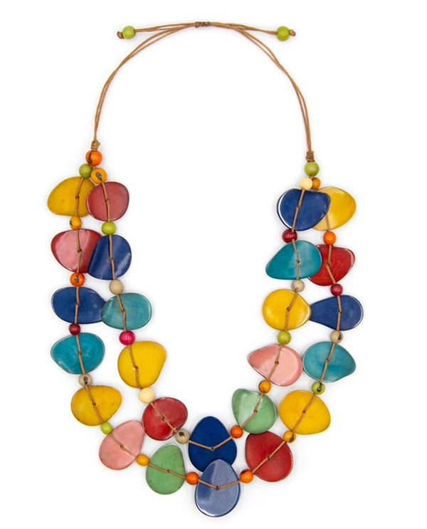 Tagua SC136-MULTI Elisa Necklace Multi
