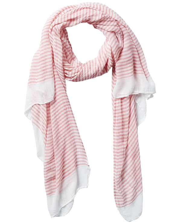 Coral Tickled Pink 811080 Tiny Stripe Insect Shield Scarf