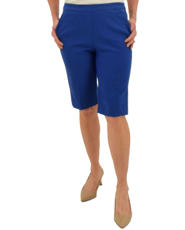 Blue Tribal 3281O-803G Pull On Bermuda Shorts with comfy elastic waist and pockets