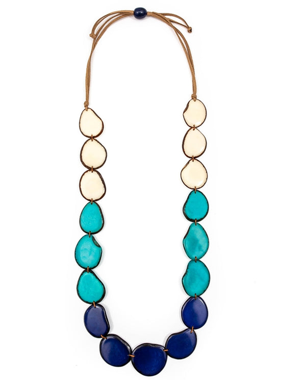 Organic Tagua LC230-AZ COMBO Angelina Necklace Royal Combo