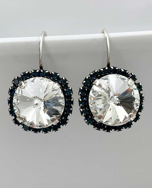 Vickie Earring Montana Halo  BY RACHEL MARIE DESIGNS Clear