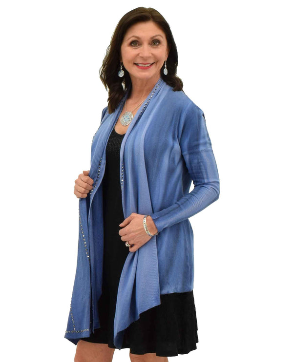 RBLU Vocal 11417C Thermal Cardigan with Stones