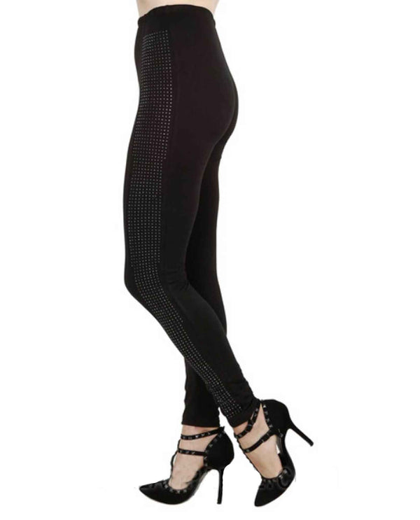 Vocal 15422P Leggings With Stones Black