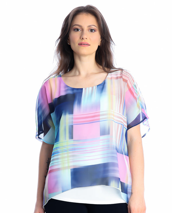 Michael Tyler 2918 Pastel Dolman Layer Top