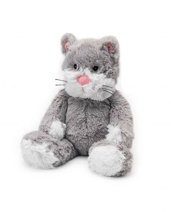 Warmies Cat grey and white microwavable plush cat with lavender scent