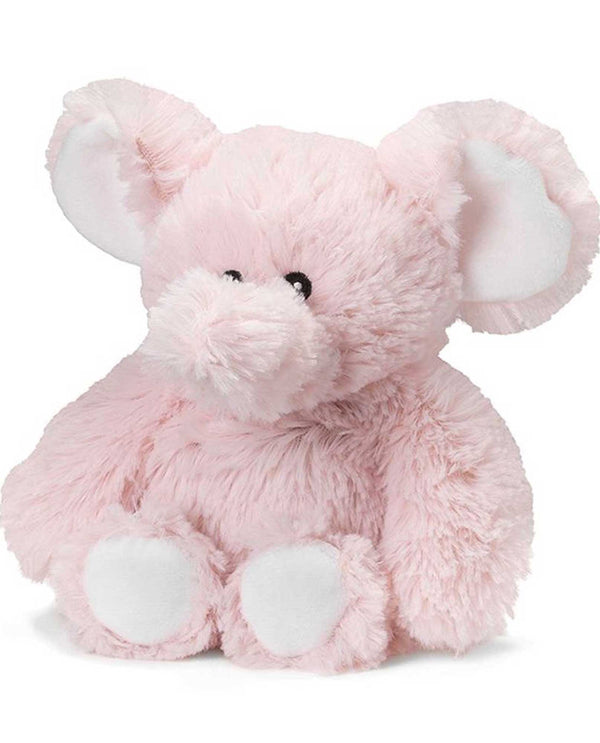 Warmies Pink Elephant Jr microwavable elephant plush animal scented with french lavender