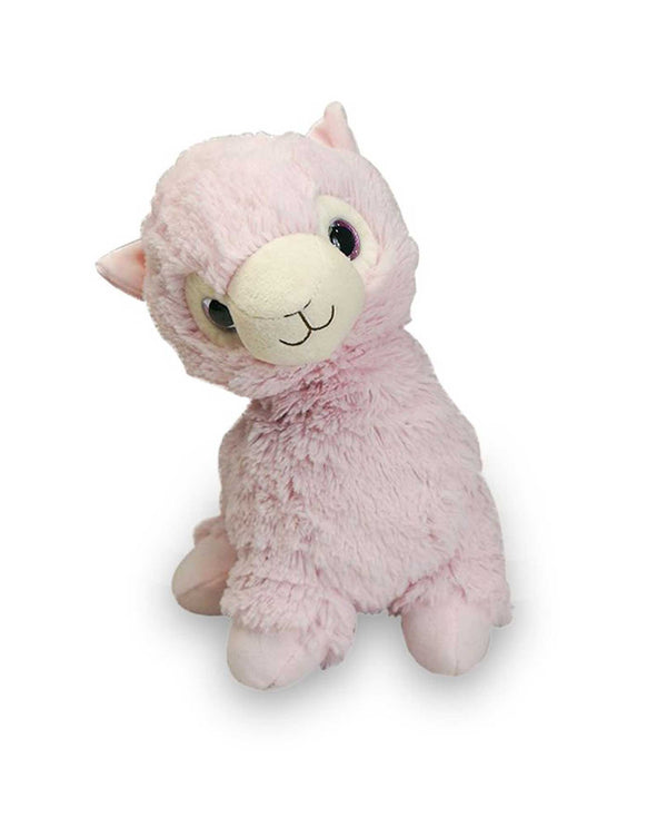 Warmies CP-LLA Pink Llama microwavable pink llama plush animal scented with lavender