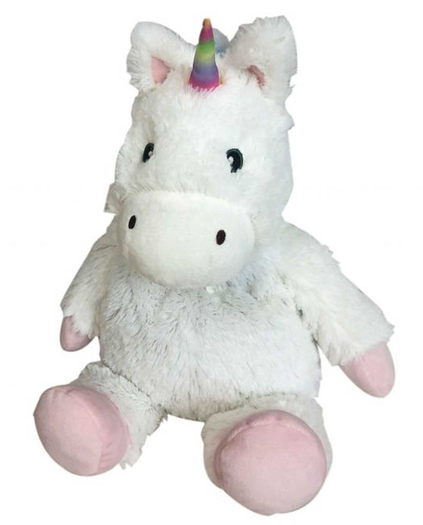 Warmies CP-UNI White Unicorn plush unicorn microwavable animal with French lavender scent