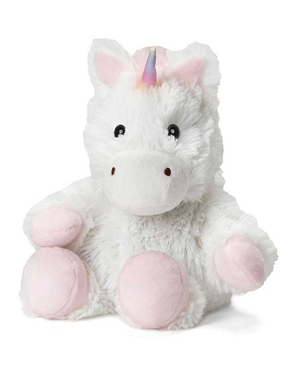 Warmies CPJ-UNI Unicorn Jr plush white unicorn filled with French lavender scent for all ages