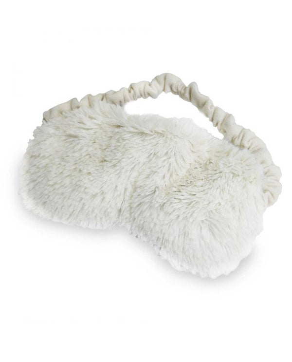 Warmies Eye Mask fuzzy cream colored microwavable eye mask