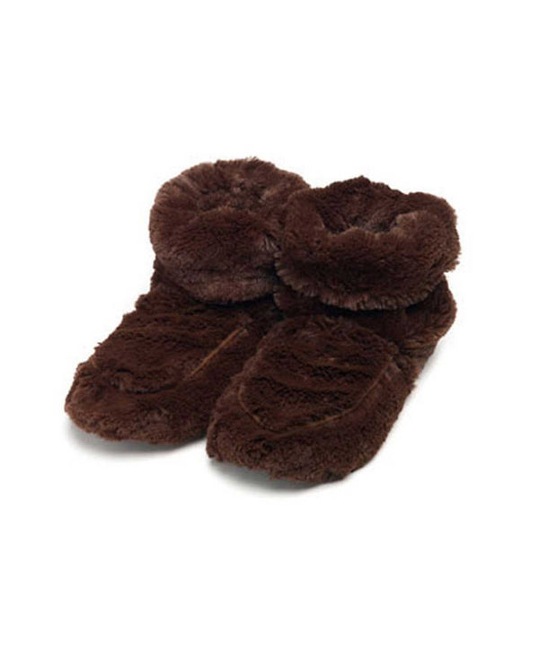 Warmies FW-BOO Boots brown fuzzy microwavable booties