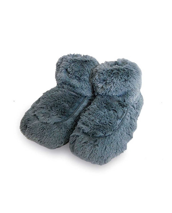 Warmies FW-BOO Boots grey fuzzy microwavable booties