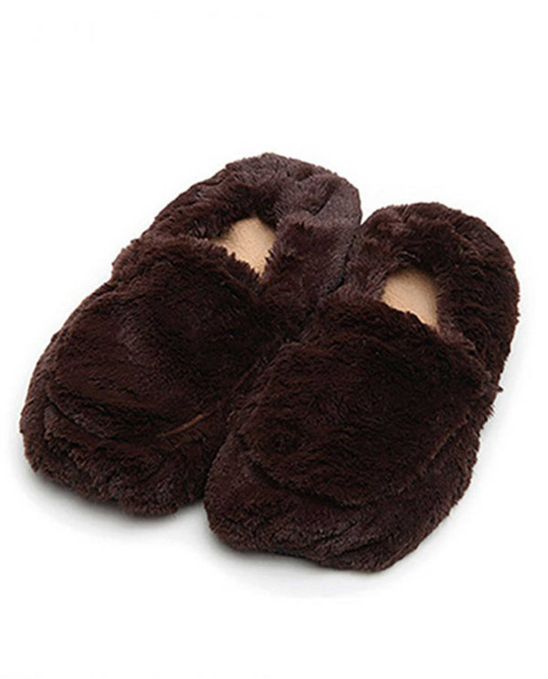 Warmies FW-SLI Slippers dark brown microwavable fuzzy slippers