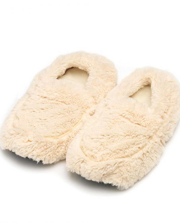 Warmies FW-SLI Slippers cream colored microwavable fuzzy slippers