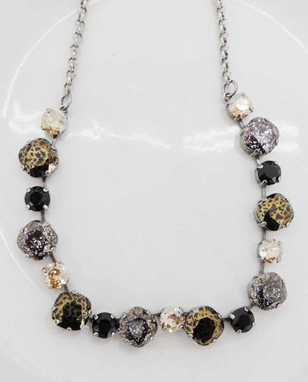 Wild Side Laura Necklace by Rachel Marie Designs with Swarovski Crystals