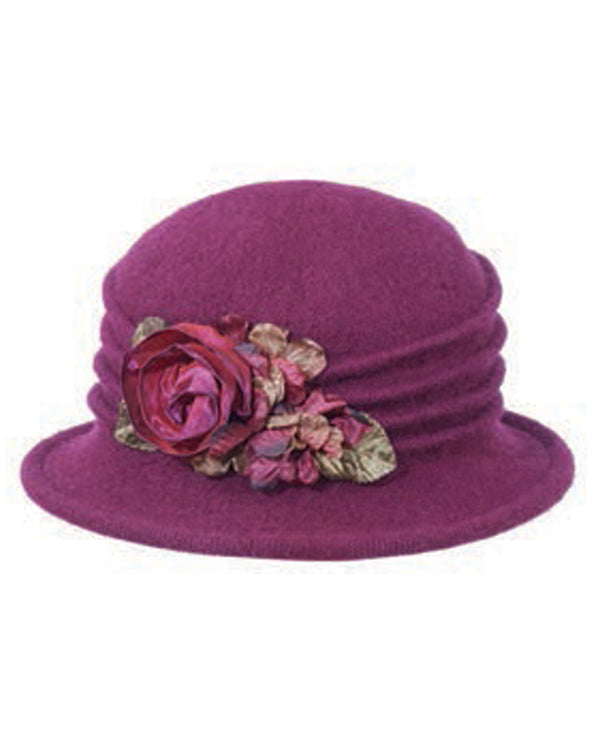 Ombre Wool Cloche Berry