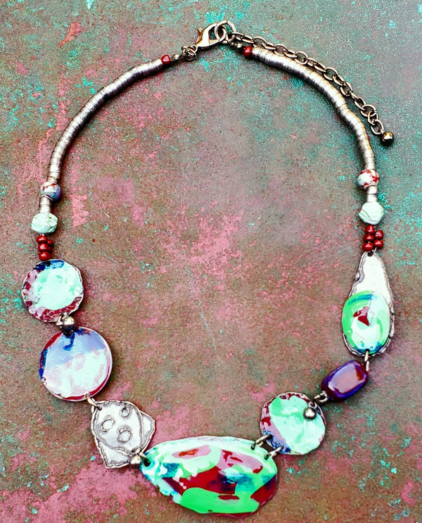 Treska RAR4427 Painted Metal Collar Necklace