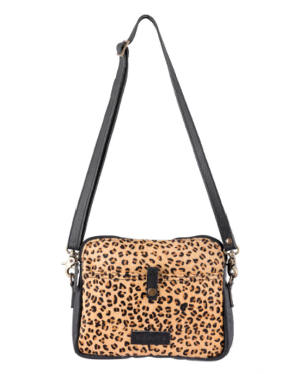 Sixtease 2511 Leopard Leather Hairon Crossbody