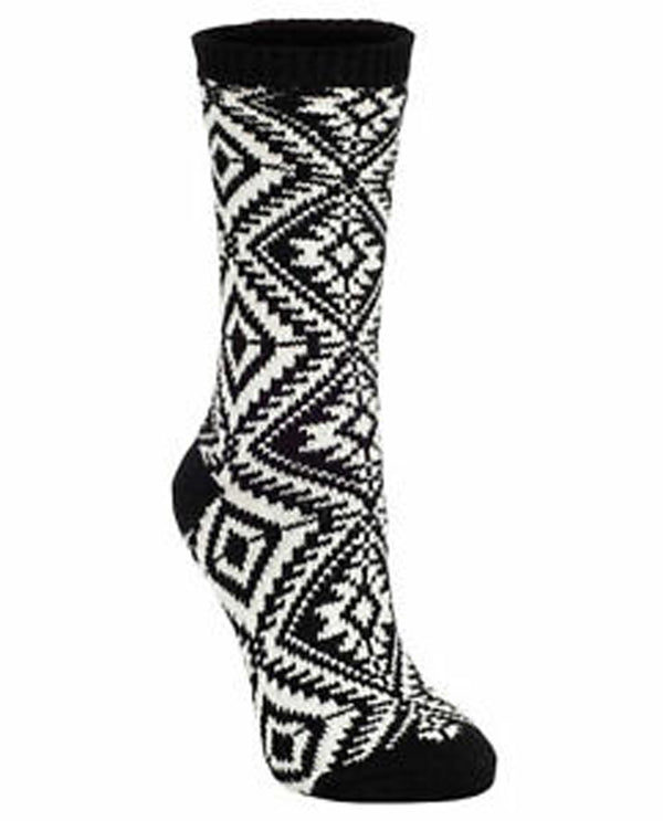 World's Softest Socks Black Aztec Crew