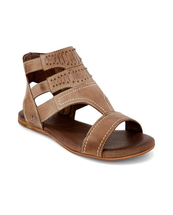 Charla Leather Sandal Bone Front View