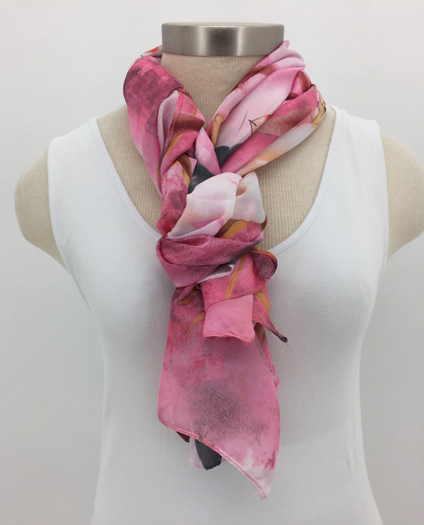 Pink Silky Large Scarf